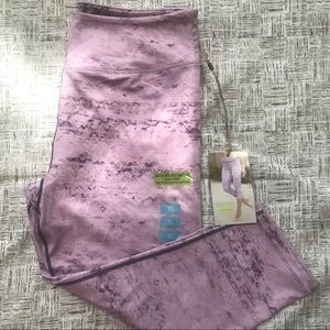 Earth Yoga Sustainable Purple Print Crop Leggings